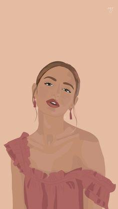 Illustration Girl, Digital Illustration, Black Art Painting, Cartoon Girl Drawing, Digital Art Girl, Digital Portrait, Diy Canvas Art, Illustrations, Graphic Art