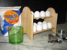 Wonderful Bakers Egg Rack; Holds One Dozen Eggs by TeskeFarmstead1870 on Etsy