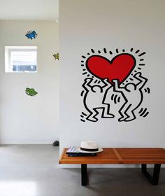 Keith Haring: Decal, Untitled Heart #keithharing #walldecal #artmarkit