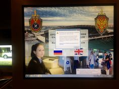 Russian special services (FSB) use cheap media player and non-licensed Windows in the Vnukovo Airport (Moscow)