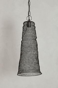 Mesh Cylinder Pendant #anthropologie