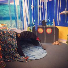 Oceans and Seas role play area complete with submarine