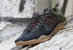 new product aa363 e1e8c The latest Nike Kobe 11 Elite features a militaristic vibe with gum  outsoles for a lifestyle ready look.