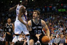 San Antonio Spurs vs. Oklahoma City Thunder: Game 4  Splitter doing his thang....