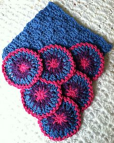 """Berry-licious"" Crochet Coaster Set ~ free pattern"