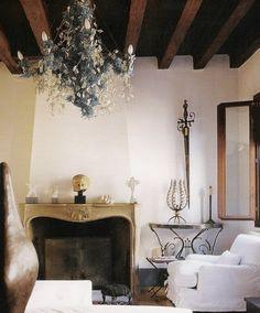 Debra Thomas chandelier - made  of broken glass