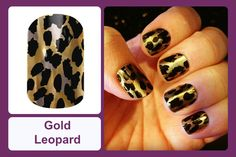A metallic gold finish gives a new take on this classic pattern. #bevsjamminnails https://bkimball.jamberry.com/us/en/shop/products/gold-leopard#.VtozpfkrJD8