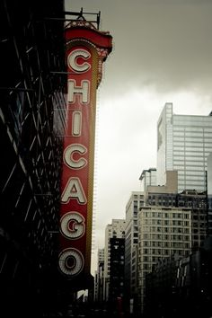 Chicago Theater sign.
