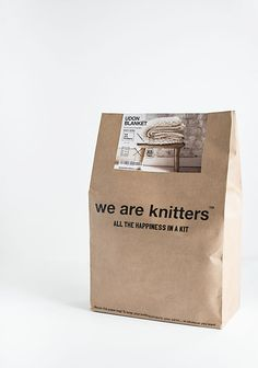 We Are Knitters . Knit Kit Packaging
