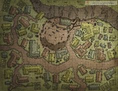 map town fantasy maps towns dungeons dragons