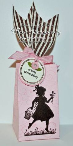 A Little Something Easter Girl Box. Stamps: Easter Blossoms, Matchbox Messages, Whimsy Wheel.  By: Card Shark