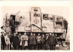 Captured Imperial German A7V Tank - WWI