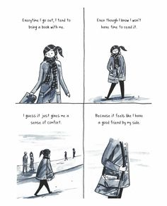 Drawing Comics Discovering she's an introvert inspired Debbie Tung to start drawing comics about her quiet, sensitive temperament. - Discovering she's an introvert inspired Debbie Tung to start drawing comics about her quiet, sensitive temperament. Introvert Quotes, Introvert Problems, Infj, Book Memes, Book Quotes, Poetry Quotes, Quotes Quotes, I Love Books, Good Books