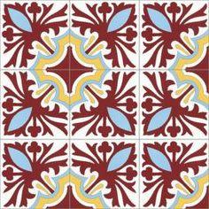 Carreaux Ciment   Floraux   MOSAIC del SUR Mosaic Del Sur, Motif Floral, Interior, Sun, Painted Canvas, Home Ideas, Indoor, Interiors