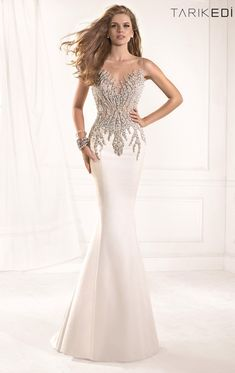 2014 New Arrival Sleeveless Mermaid Shinning Crystal Beaded Sheer Top Robe De Soiree Long Prom Dresses Evening Gown TE93
