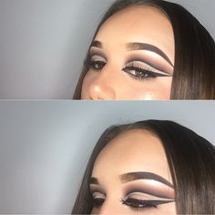 Cut crease   #makeup #eyemakeup #contour #eyeshadow #highlight #beauty #mua #lashes #eotd #motd #highlighter #eyebrows #brows #makeupporn #makeuplook #eyeshadow #eyeliner #eyelashes #creativemakeup