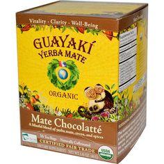 Guayaki, Organic Mate Chocolatté, 16 Tea Bags, 1.41 oz (40 g) - iHerb.com. Bruk gjerne rabattkoden min (CEC956) hvis du vil handle på iHerb for første gang. Da får du $5 i rabatt på din første ordre (eller $10 om du handler for over $40), og jeg blir kjempeglad, siden jeg får poeng som jeg kan handle for på iHerb. :-)