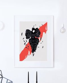 The Black Beauty: Alexander McQueen Illustration poster print. Matte and Giclee Art Prints in A3 or A2 sizes. Wall Art, London Prints by EyeForLondonPrints on Etsy https://www.etsy.com/uk/listing/273634864/the-black-beauty-alexander-mcqueen