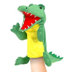 Buy Fiesta Crafts Crocodile Hand Puppet from the Gifts For Kids range at Hobbycraft. Puppet Toys, Sock Puppets, Hand Puppets, Diy Crafts For Gifts, Hobbies And Crafts, Crocodile, Nursery Rhyme Characters, Puppets For Kids, Puppet Making