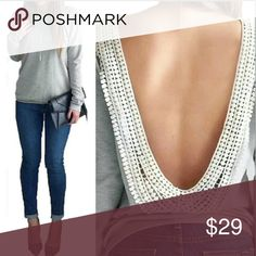Sexy Backless Long Sleeve Top Sexy Backless Long Sleeve Top   This is NWOT Retail Price Firm Unless Bundled. Measurements Available Upon Request. Tops Tees - Long Sleeve