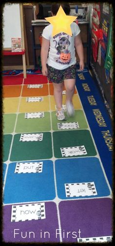 Racing Through Sight Words - A free, fun and easy sight word game from Fun in First adapt this to letters. Sight Word Spelling, Teaching Sight Words, First Grade Sight Words, Phonics Words, Sight Word Practice, Sight Word Games, Sight Word Activities, Literacy Activities, Reading Activities