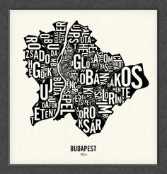 BUDAPEST and its 23 Districts 20x21 Map Poster by designerDad