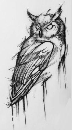 Sketch Owl- Sketch Owl Sketch Owl - tattoo designs ideas männer männer ideen old school quotes sketches Owl Tattoo Drawings, Pencil Art Drawings, Art Drawings Sketches, Tattoo Sketches, Cool Drawings, Tattoo Owl, Sketch Style Tattoos, Owl Tattoos, Beautiful Drawings