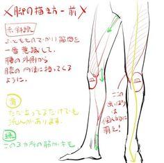 腿和脚的绘制方法{各个角度都有讲解到 有...