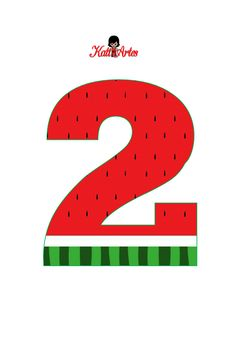 Watermelon Birthday Parties, Fruit Birthday, 2nd Birthday Party Themes, Birthday Numbers, Beach Theme Preschool, Frozen Cupcake Toppers, Fiction And Nonfiction, Diy Party Decorations, Letters And Numbers