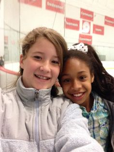 Me and my BFF at a skating thing
