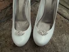 Navette Rhinestone Shoe Clips - Bridal Shoe Clips, Rhinestone Shoe Clips, Crystal Clips for shoes, pumps