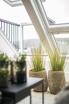 The VELUX cabrio is one of the most popular in our range - transforming your home not just with daylight but also a balcony Roof Window, Window Sill, Nordic Interior Design, Interior Styling, Extensions, Open Plan Kitchen, Kitchen Ideas, Self Watering Pots, Uses For Coffee Grounds