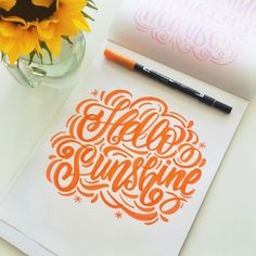 Hello Sunshine! Check out this awesome lettering by Tombow guest designer Marie using Tombow Dual Brush Pens!