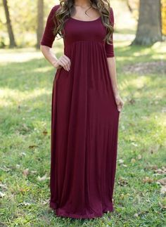Mommy to Be Maternity Photo Prop Floor Length Maxi Dress / Gown Closed Front Maroon / Eggplant Pregnancy Portrait Women's Baby Shower Dresses Maternity Clothes Clothing Womens White Maxi Dresses, Maxi Dress With Sleeves, Modest Dresses, Red Maxi, Long Casual Dresses, Dress Long, Purple Maxi, Black Maxi, Casual Clothes