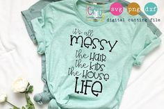 Mom life is messy and so much fun! It's All Messy The Hair The Kids The House Life Wine Bottle Crafts, Mason Jar Crafts, Mason Jar Diy, Diy Home Decor Projects, Vinyl Projects, Craft Projects, Vinyl Crafts, Diy Wall Shelves, Mason Jar Lighting