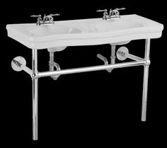 Double Bathroom Sinks White Vitreous China, Double Bathroom Sink Belle Epoque White 4 in.