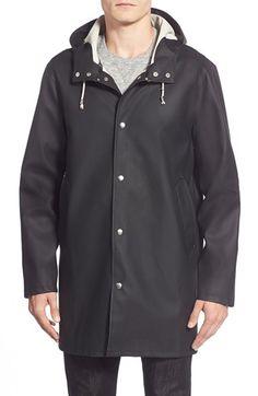 Stutterheim 'Stockholm' Waterproof Longline Hooded Raincoat