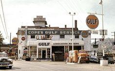 1950s Gulf Gas Station in North Carolina