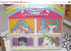 Spring Fling Sale 25% Off My little Pony Collectors Case for the Baby ponies So cute 1980s Carrry case for ponies