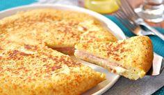 Puré de patata relleno de jamón y queso