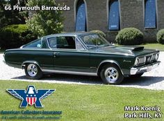 The sporty yet practical 1966 Plymouth Barracuda beat the Mustang to market in 1964 by 16 days.  Its rear window is the biggest piece of automotive glass (14.4 sq.ft.) produced to date.