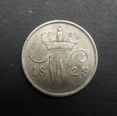 Nederland - 10 cent 1828B Willem I - zilver