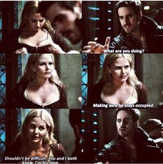 CS- lol love how he took a sneak peek... and freaked about her with his prior self Captain Swan