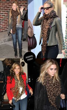 in love with the animal print scarf