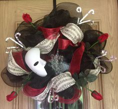 Phantom of the Opera themed wreath by faithgems on Etsy, $139.99