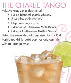 The Charlie Tango ~ a yummy cocktail for your 50 Shades of Passion Party