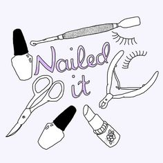 I've already mentioned it but I'm a qualified beauty therapist now and I had to draw something for the occasion obvs. I still want to study aromatherapy and massage and advanced nails and eyelash extensions and maybe more on skincare because facials are my fave. But for now Im focusing on manicures and nail art #beauty #illustration #pinterest