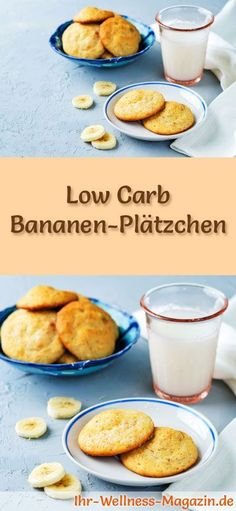 Low Carb Banana Cookies - Easy Recipe for Christmas .- Low carb Christmas baking recipe for banana cookies: low carbohydrate, reduced calorie Christmas biscuits – baked without cornmeal and sugar … # baking - Christmas Biscuits, Christmas Baking, Christmas Cookies, Low Carb Desserts, Low Carb Recipes, Easy Recipes, Law Carb, Banana Recipes, Calories