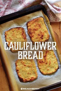 Check out this gluten free cauliflower bread recipe. Healthy veggies for your di… Check out this gluten free cauliflower bread recipe. Healthy veggies for your diet. Cauliflower Bread, Cauliflower Recipes, Veggie Recipes, Low Carb Recipes, Bread Recipes, Vegetarian Recipes, Cooking Recipes, Healthy Recipes, Cauliflower Toast Recipe