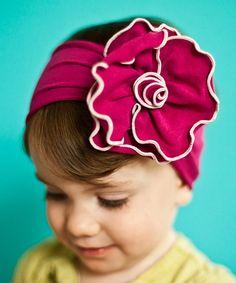 Loving this Magenta Rose Headband on #zulily! #zulilyfinds